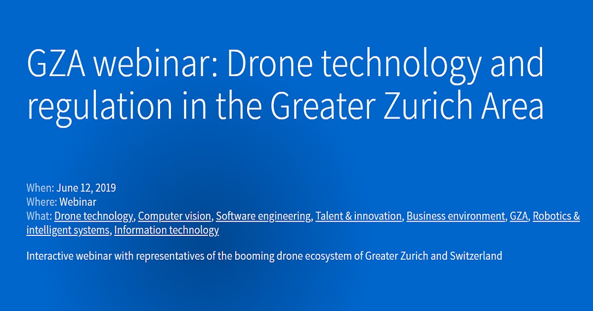 Drone technology and regulation in the Greater Zurich Area