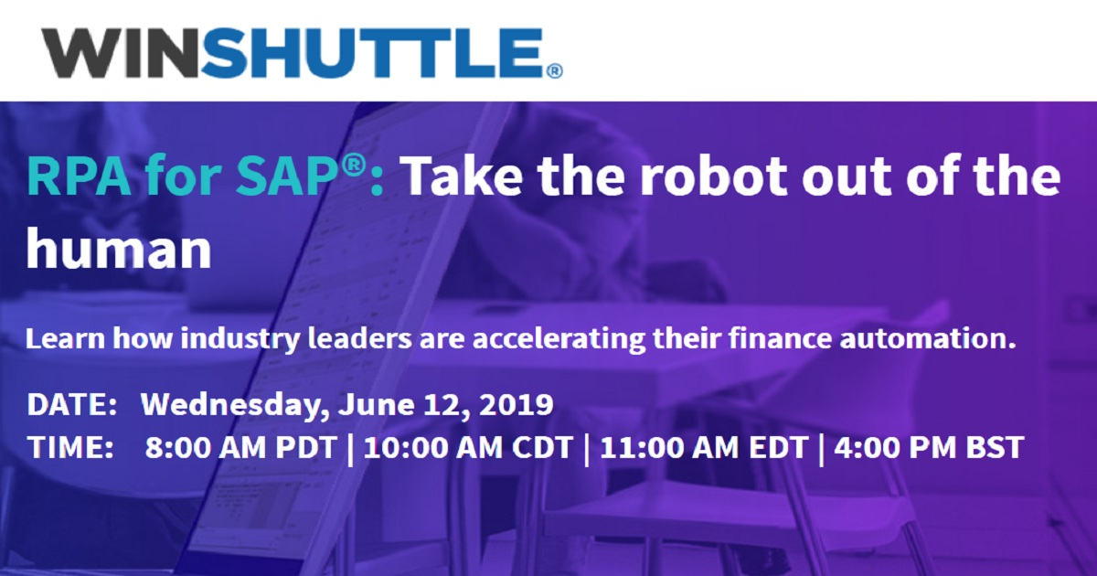 RPA for SAP: Take the robot out of the human
