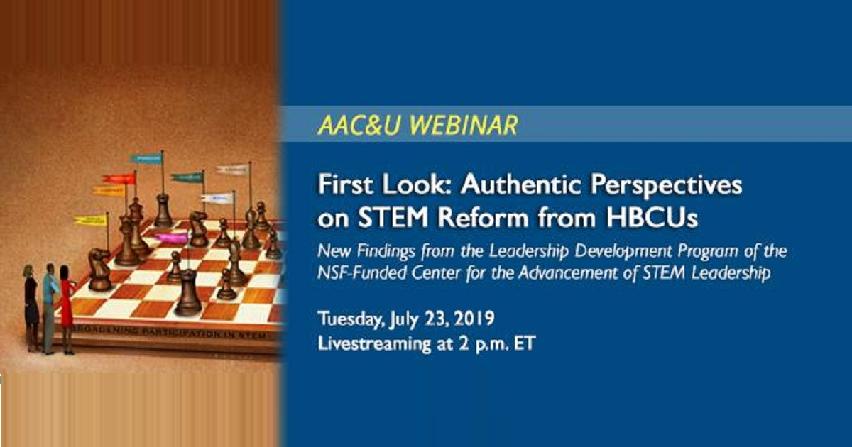 First Look: Authentic Perspectives on STEM Reform from HBCUs