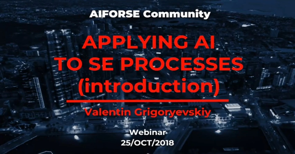 Applying AI To Software Engineering Processes